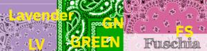 Hanky color code abbreviations