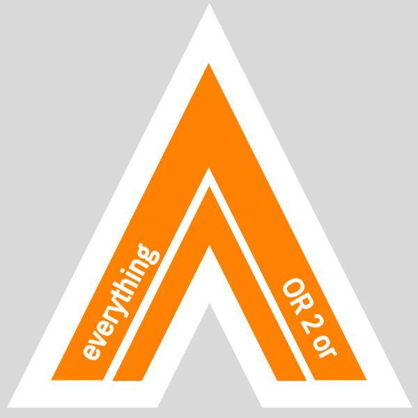 Hanky Code Pair Arrow for everything / ORANGE