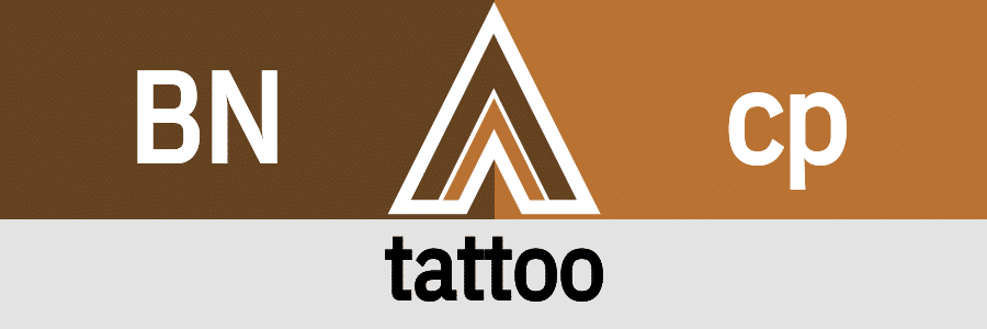 Hanky Code Pair Arrow for tattoo fetish / BROWN 2 copper